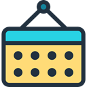 interface, Calendar, Calendars, Organization, miscellaneous, time, date, Schedule, Administration Khaki icon