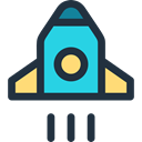 Space Ship, Space Ship Launch, Rocket Ship, transportation, Rocket, transport, Rocket Launch DarkSlateGray icon
