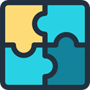 education, Puzzle Pieces, Hobbies And Free Time, puzzle piece, Puzzle Game, Puzzle DarkSlateGray icon