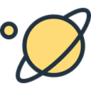 saturn, solar system, education, Astronomy, planet, science Khaki icon
