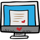 Valentines Day, Computer, technology, responsive, monitor, screen Gainsboro icon