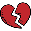 love, romantic, Romanticism, Valentines Day, lovely, Broken Heart Firebrick icon