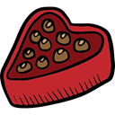Valentines Day, Chocolate Box, food, sweets, Heart Shaped, romantic, love, Heart, Dessert, lovely, Romanticism, Burning Firebrick icon