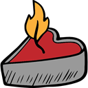 romantic, love, Heart Shaped, Romanticism, light, Tools And Utensils, illumination, lovely, Valentines Day, Candle DarkGray icon