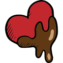 Valentines Day, lovely, Romanticism, Chocolate, romantic, Heart, love Firebrick icon