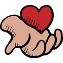 Heart, lovely, Hand, Romanticism, love, romantic, Valentines Day Tan icon