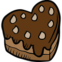 romantic, cake, food, love, Romanticism, Valentines Day, Heart Shaped, lovely SaddleBrown icon