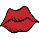 kiss, people, lovely, Romanticism, Body Part, lips, romantic, Valentines Day, love Firebrick icon