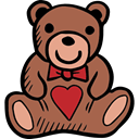 Animal, puppet, Fluffy, Valentines Day, childhood, Animals, teddy bear Sienna icon