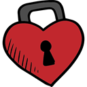 Valentines Day, lovely, Romanticism, Heart Lock, love, romantic, Tools And Utensils Firebrick icon