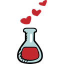 chemical, education, laboratory, Chemistry, tool, Valentines Day Black icon
