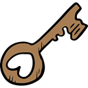 Key, Access, love, romantic, Tools And Utensils, Valentines Day, Keys Icon
