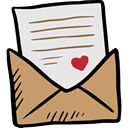 Valentines Day, Email, mail, envelope, Letter, Message Gainsboro icon