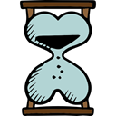 Clock, Heart Shape, Valentines Day, waiting, Tools And Utensils, time, Hourglass Black icon