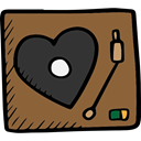 music player, Heart Shape, vinyl, music, Record Player, record, Valentines Day Sienna icon