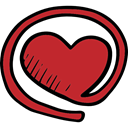 valentines, Heart Shape, love, At, romantic, Valentines Day, signs, Arroba Firebrick icon