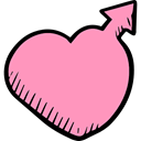 Heart, Gender, male, love, signs, romantic, Valentines Day LightPink icon