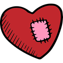 Healing, romantic, Heart, Valentines Day Firebrick icon