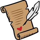 Valentines Day, Pen, writing, Letter, love DarkKhaki icon