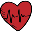 Valentines Day, Heart, Electrocardiogram, loving, Health Care, romance, medical Firebrick icon