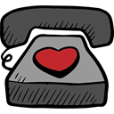 Telephone Call, Tools And Utensils, technology, telephone, Valentines Day, Conversation DarkSlateGray icon