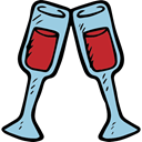 Valentines Day, Wine Glass, Alcohol, party, Alcoholic Drink, food Black icon