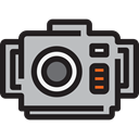 Diving, photo camera, Aquatic, electronics, Underwater Photography Black icon