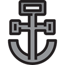 miscellaneous, navy, sail, sailing, Anchor, tattoo Black icon