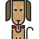 Animals, pet, mammal, Animal Kingdom, dog Black icon