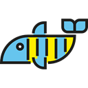 Sea Life, fish, Aquatic, Aquarium, Animals, ocean Black icon