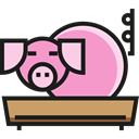 Animal Kingdom, zoo, Animals, Farm, pig Black icon