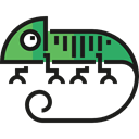 Chameleon, zoo, Animal Kingdom, Wild Life, Animal, Animals Black icon