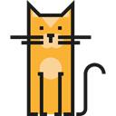 Animal Kingdom, pet, Cat, Feline, Animals Black icon