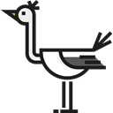 Animals, bird, Animal Kingdom, Stork Black icon
