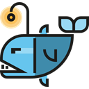 Aquatic, Sea Life, Aquarium, fish, ocean, Animals Black icon