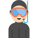 profile, Sports And Competition, Scuba Diver, user, Avatar, Social DarkSlateGray icon