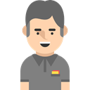 user, Sports And Competition, referee, Social, profile, Avatar Black icon