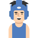 profile, Avatar, Social, boxer, user, Sports And Competition SteelBlue icon