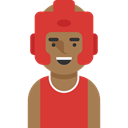 profile, boxer, Sports And Competition, Social, Avatar, user Crimson icon