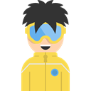 Sports And Competition, Snowboarder, user, profile, Avatar, Social SandyBrown icon