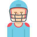 Avatar, Social, player, profile, Sports And Competition, user, American football SkyBlue icon