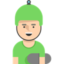 skater, Social, user, profile, Sports And Competition, Avatar Black icon
