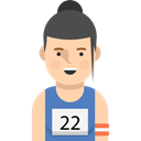 profile, Sports And Competition, user, runner, Social, Avatar Black icon