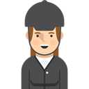 Sports And Competition, profile, Social, Jockey, user, Avatar DarkSlateGray icon
