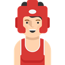 Avatar, boxer, user, Social, Sports And Competition, profile Crimson icon