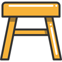 Seat, furniture, Chair, buildings, Furniture And Household, stool Goldenrod icon