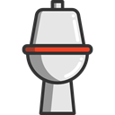 Furniture And Household, restroom, Wc, toilet, bathroom Black icon