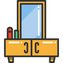 table, Dresser, furniture, Mirror, Dressing, Furniture And Household Goldenrod icon