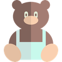 Animals, puppet, Animal, childhood, children, Kid And Baby, bear, teddy bear, Fluffy Gray icon