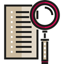 File, search, Edit Tools, Archive, interface, document Black icon